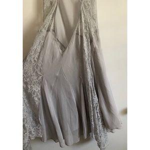 Gray Free People Slip Dress